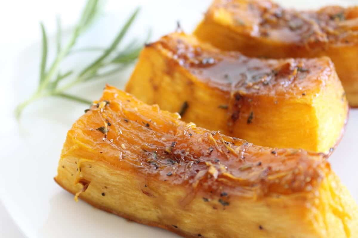 Sweet Rosemary Pumpkin Wedges