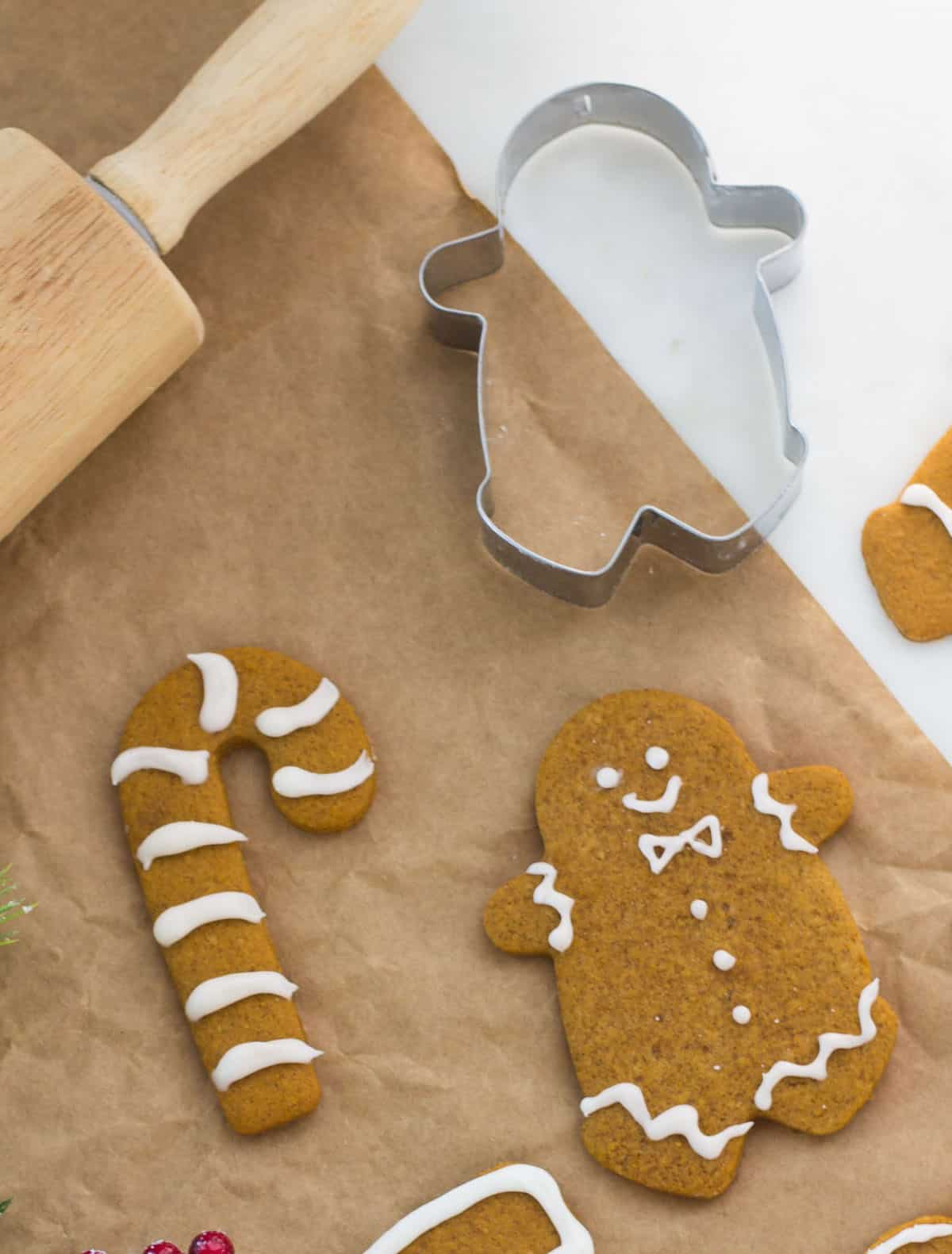 Gingerbread cookies that are perfectly spiced, chewy, and fuss-free! Recipe via MonPetitFour.com