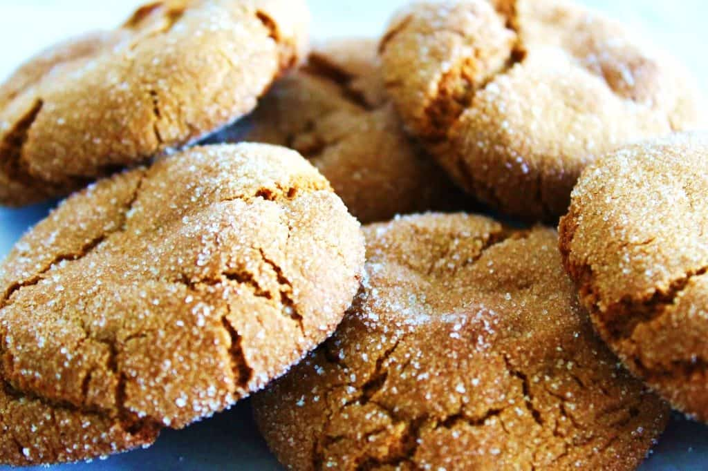 soft molasses cookies rolled in sugar