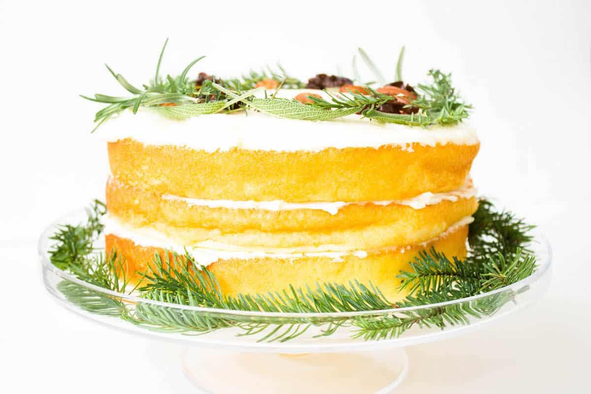 Christmas Dessert: Orange Chiffon Cake