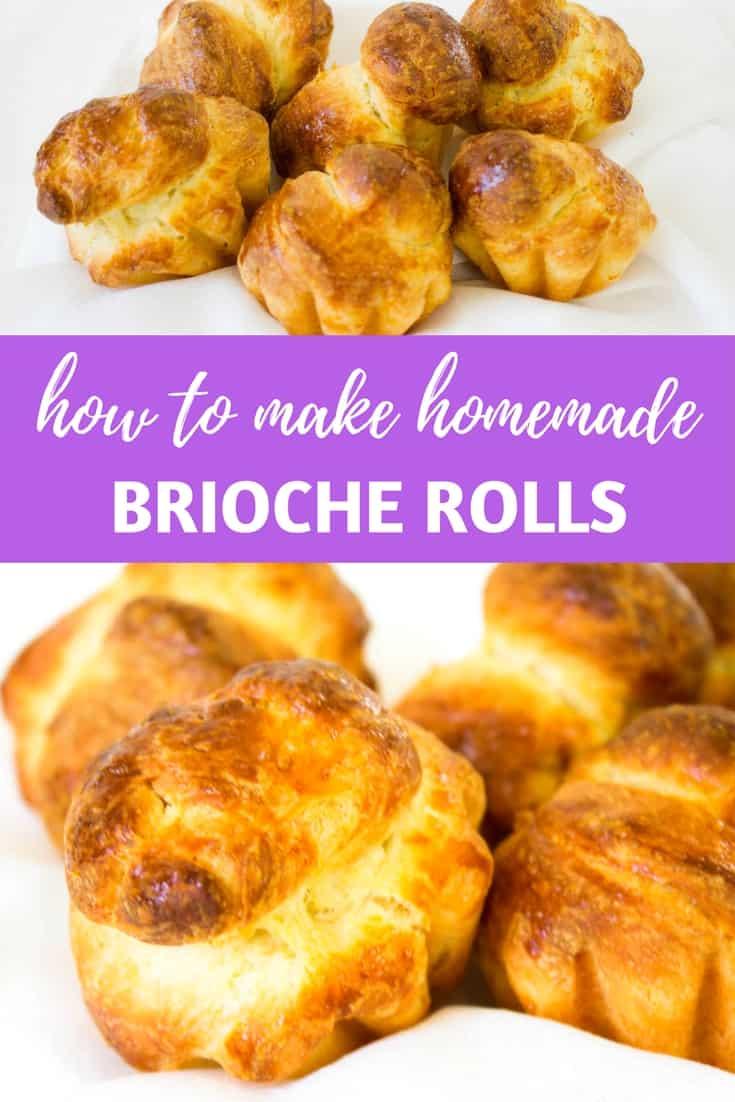 """Brioche Rolls (""""brioche a tete""""): A recipe for making buttery, French brioche rolls, perfect for a breakfast or brunch! Recipe via MonPetitfour.com"""