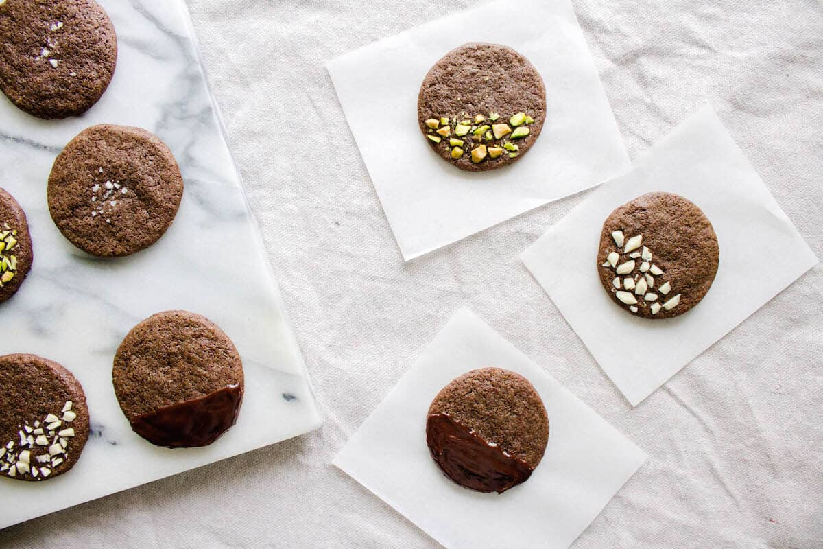 Chocolate Sable Cookies with Nuts and More