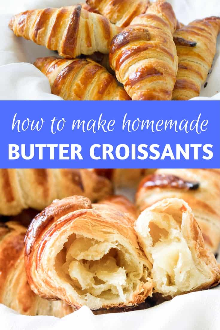 Homemade Croissants: make your own flaky, buttery French croissants right at home with this recipe! via MonPetitFour.com