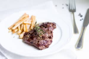 Steak Frites: A Parisian bistro favorite made right at home! Recipe via MonPetitFour.com