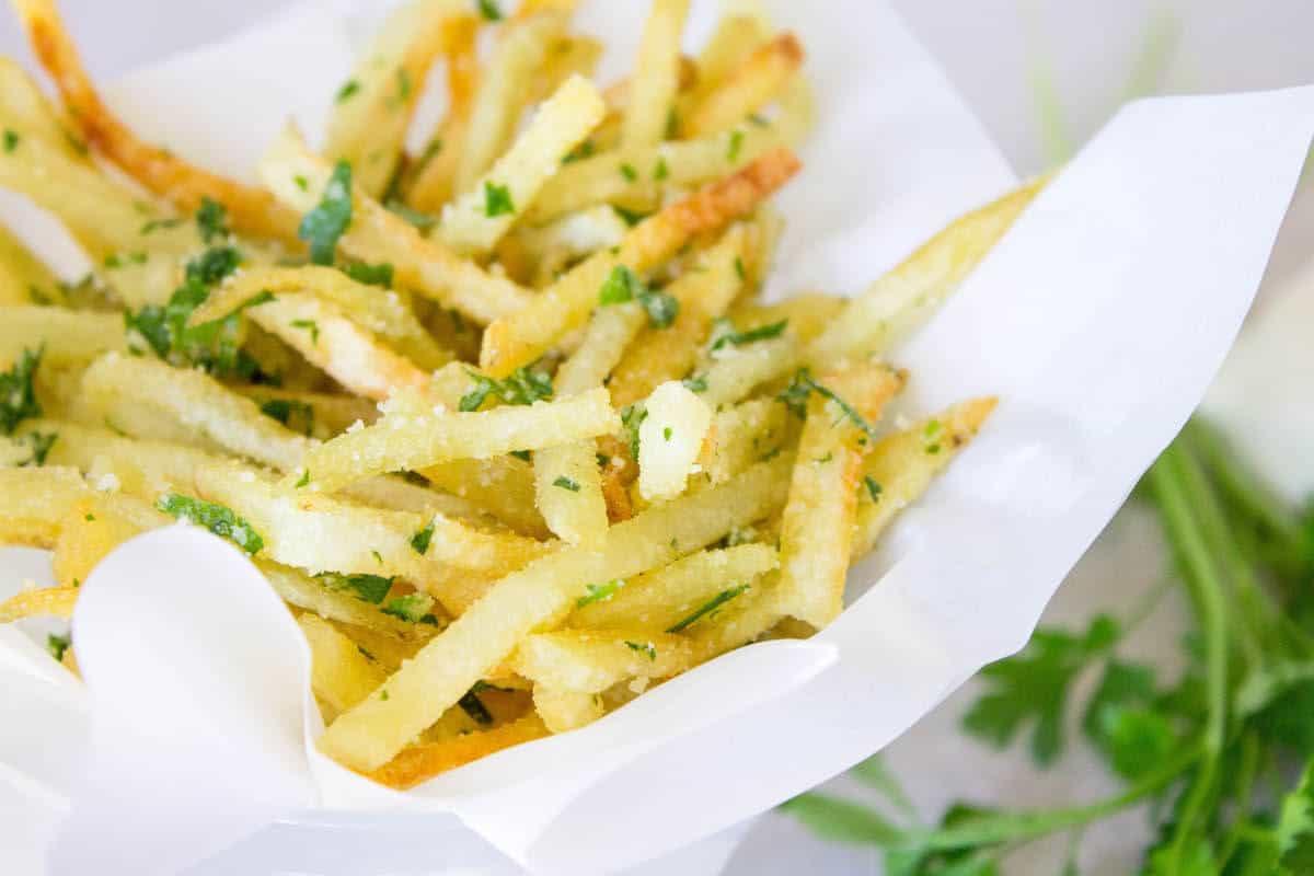 Garlic Truffle Fries Recipe — Dishmaps