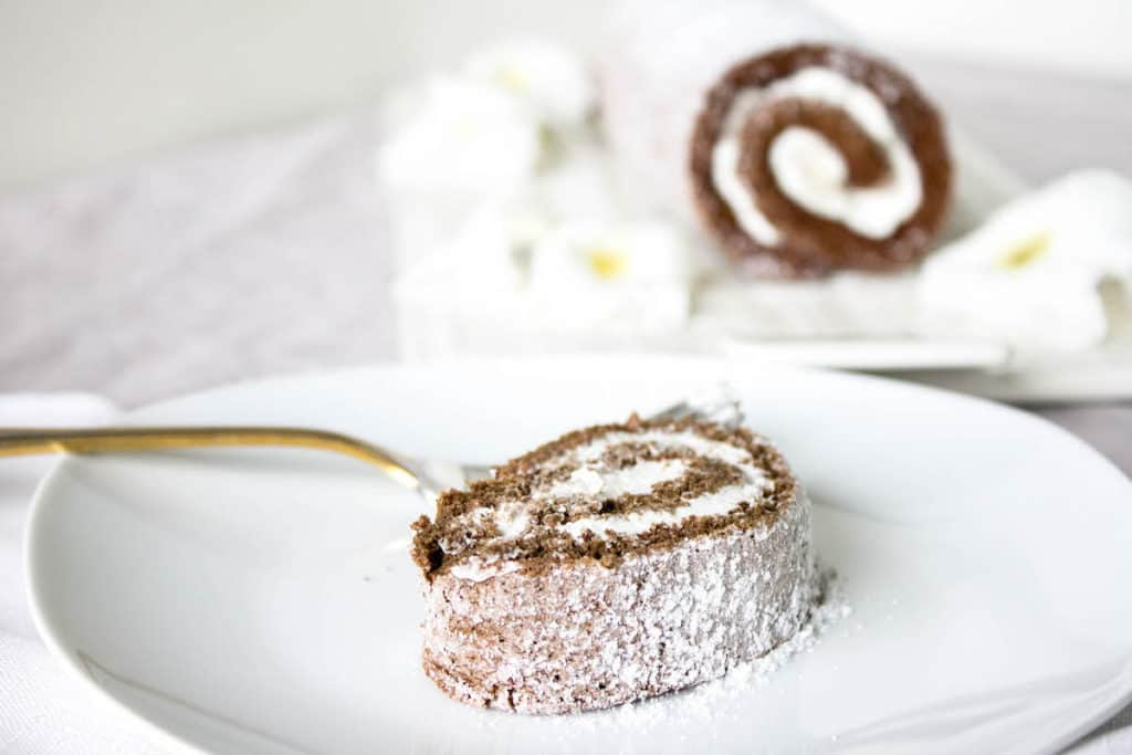 chocolate roulade cake
