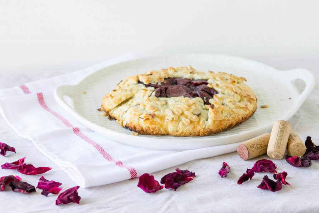 red wine apple pear galette