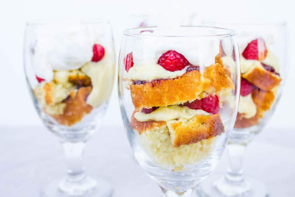 orange raspberry trifle