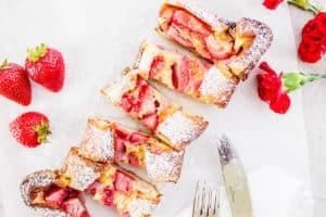 strawberry flaugnarde