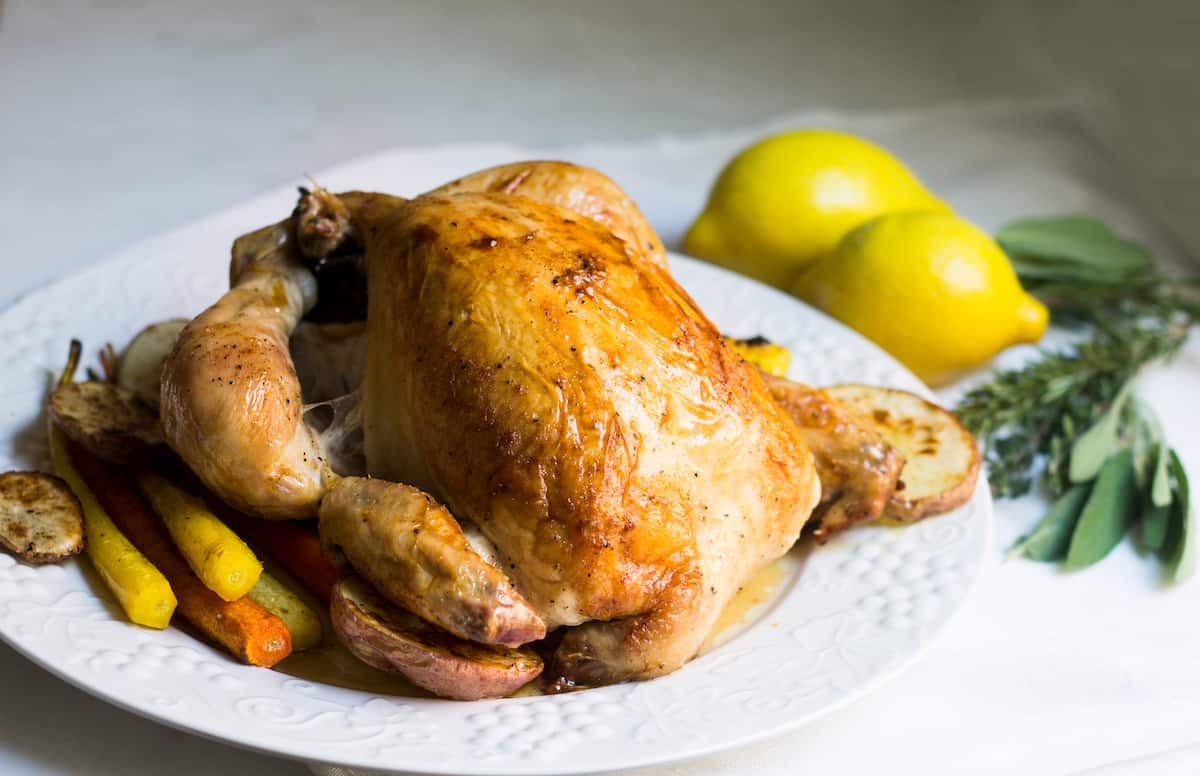 Roast Chicken French Style Poulet Roti
