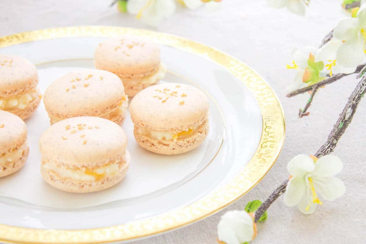 Apricot Macarons with Mascarpone Filling