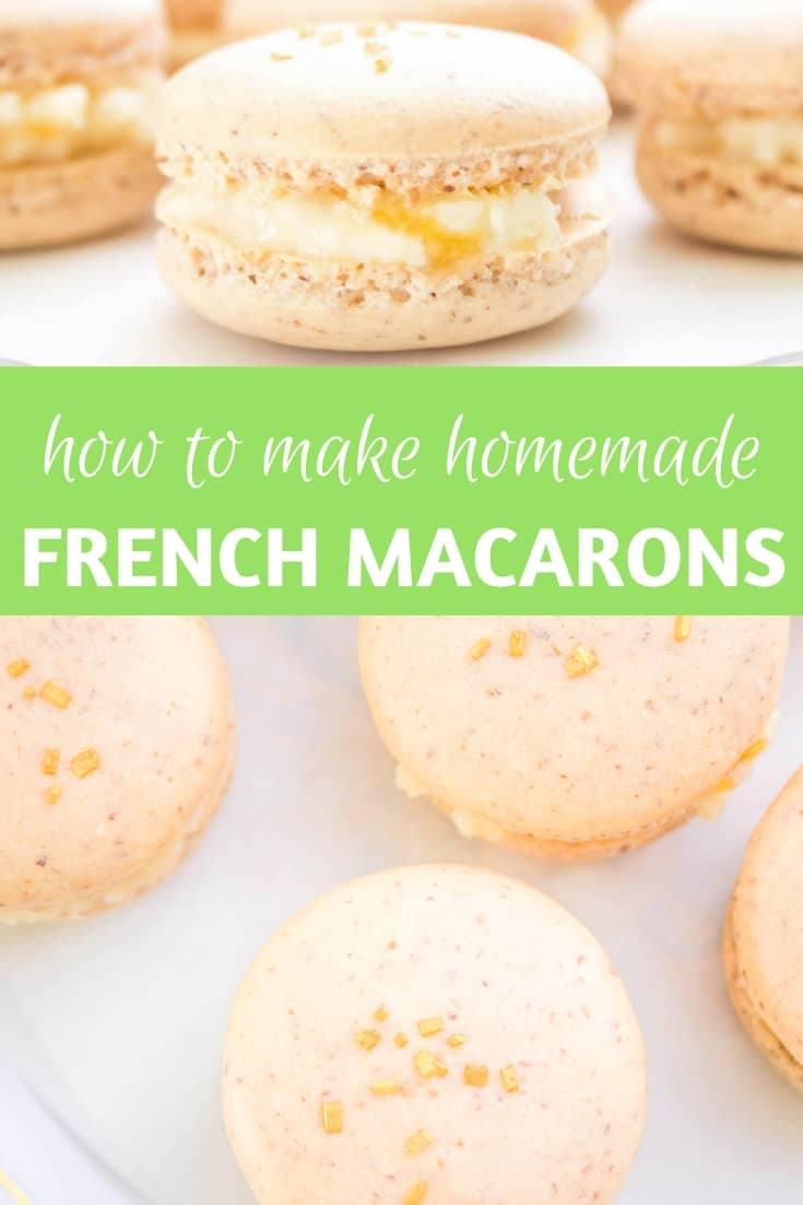 Apricot Macarons: How to make homemade French macarons from scratch with step-by-step directions. Recipe via MonPetitFour.com