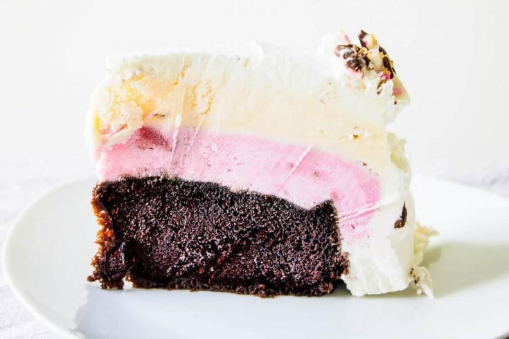 Neapolitan Ice Cream Cake - Mon Petit Four