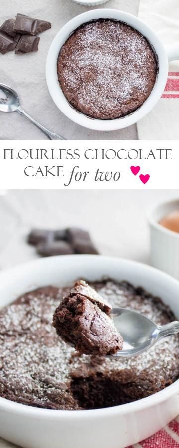Flourless Chocolate Cake: Perfect dessert for two! Recipe via MonPetitFour.com