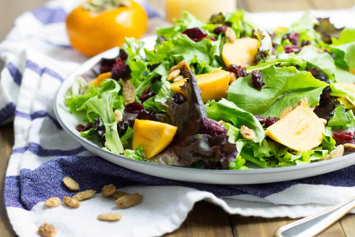 persimmon harvest salad