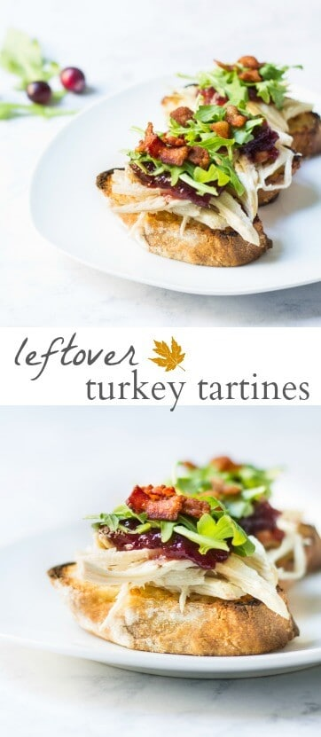 leftover turkey tartines
