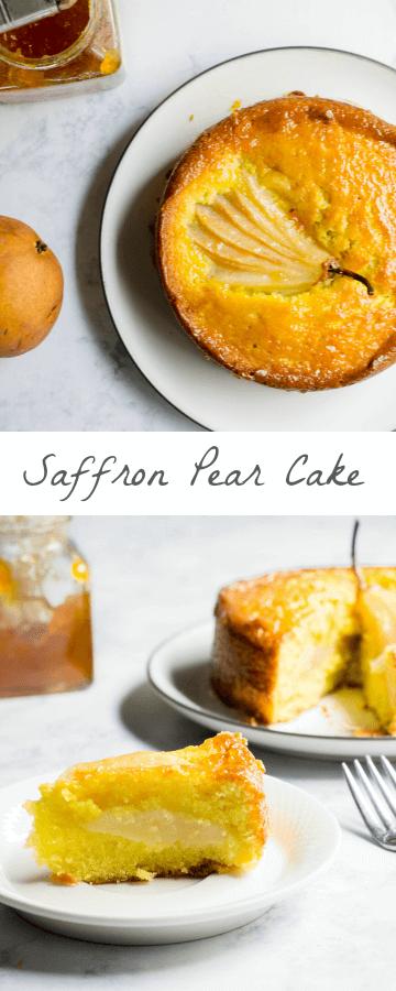 Saffron Pear Cake
