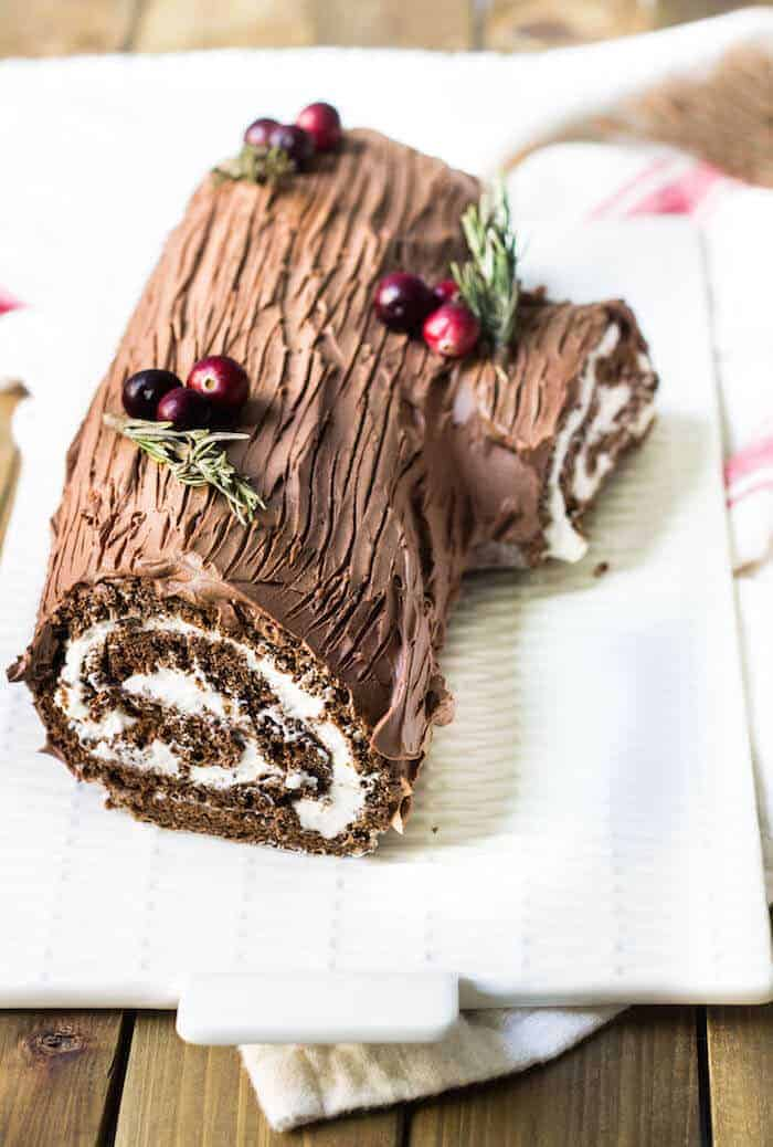 french christmas log