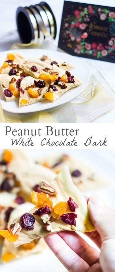 peanut butter white chocolate bark