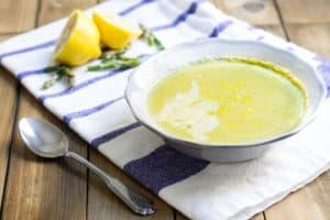 Crème d'asperges: creamy asparagus soup via MonPetitFour.com