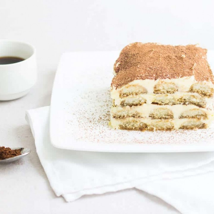 Easy Tiramisu Recipe on a plate
