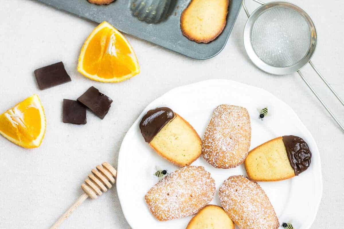 honey and orange madeleines