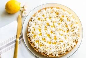 lemon tart recipe hero shot
