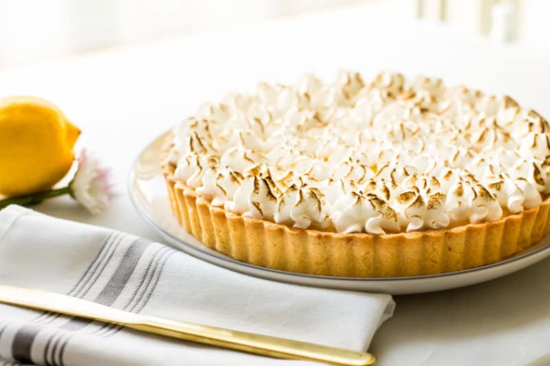 lemon tart meringue topping
