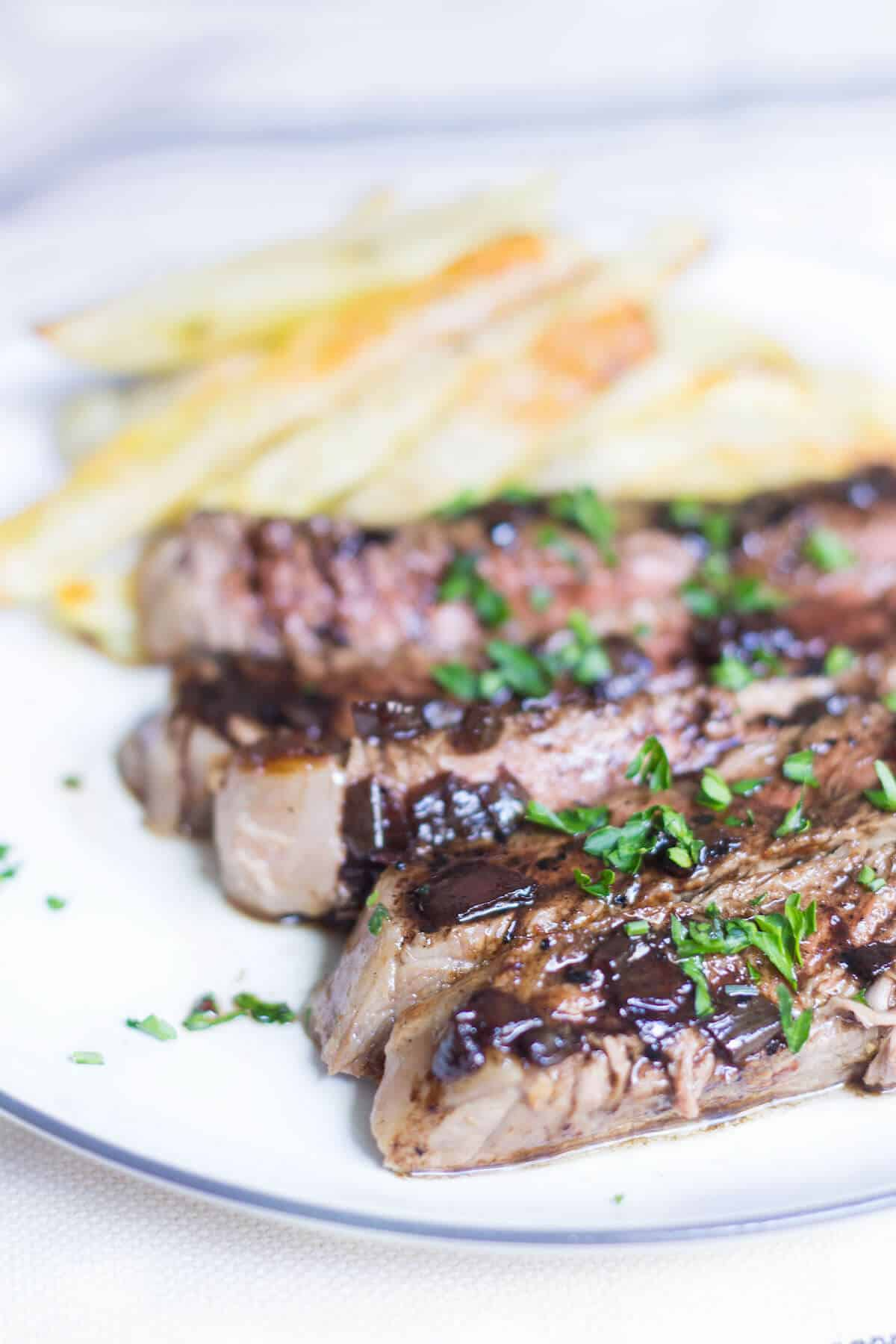 Entrecote Steak With Red Wine Sauce Mon Petit Four