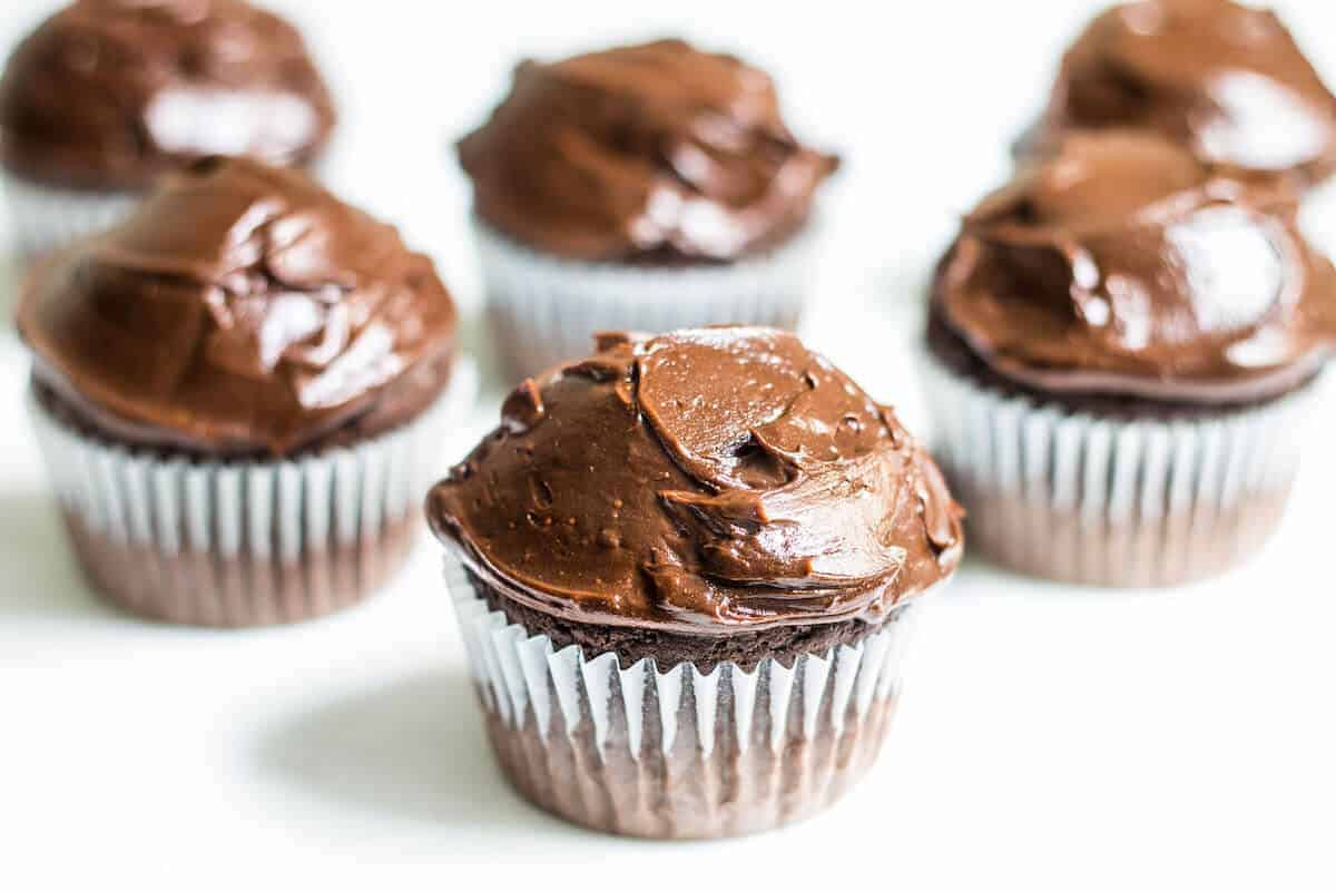 Cappuccino-Chocolate Cupcakes Recipe — Dishmaps