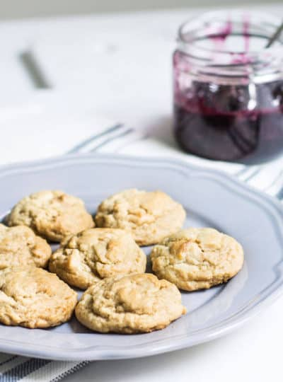 Peanut Butter Cookies with Berry Jam