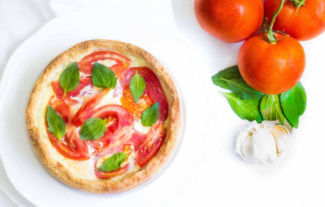 Tomato Tart Made With Fresh Ricotta