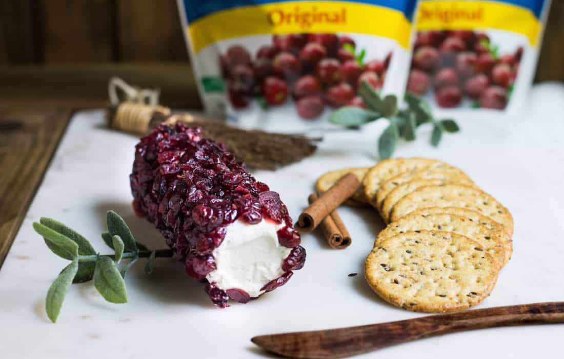 Cranberry Cheese Log for Fall Entertaining