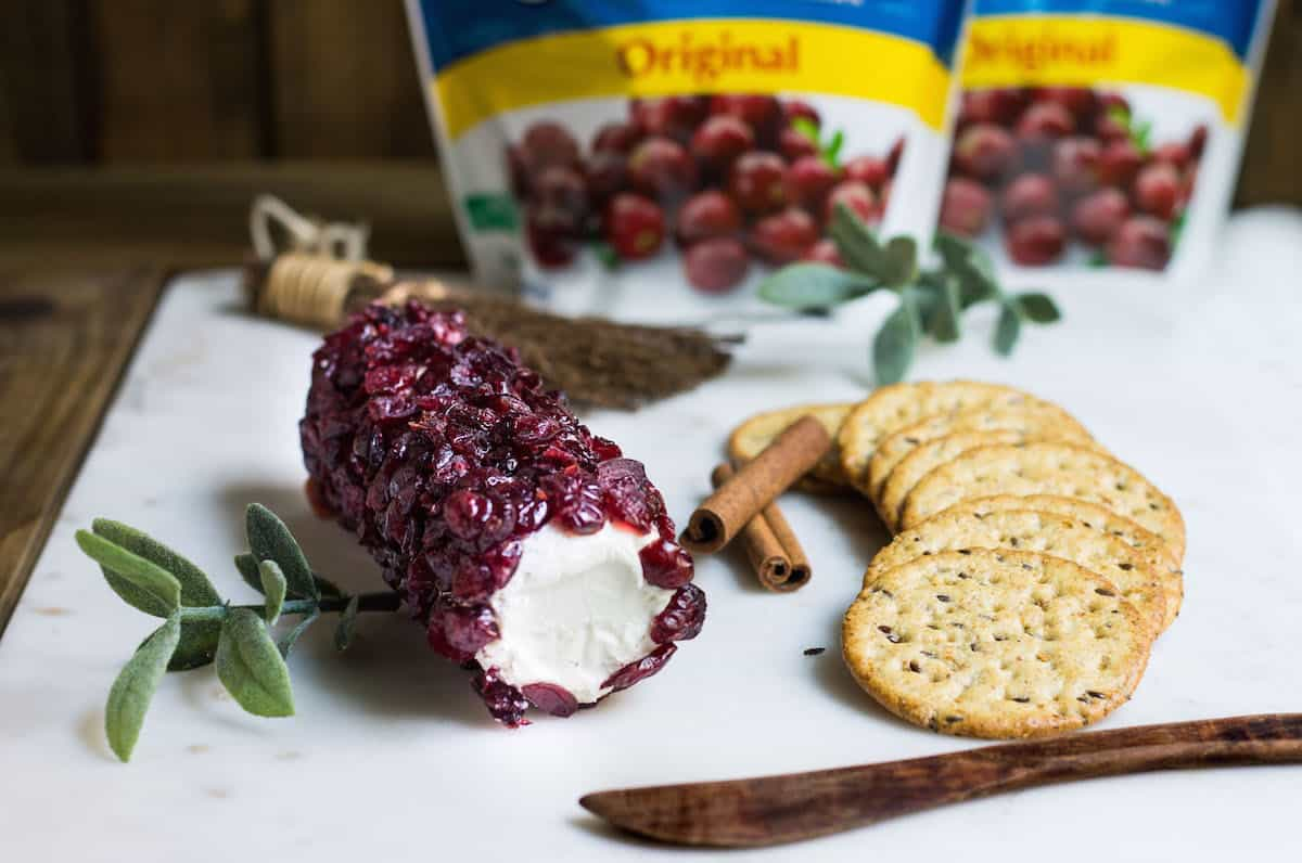 cranberry cheese log