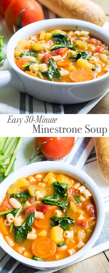 Minestrone Soup: a 30-minute fall/winter meal. Recipe via MonPetitFour.com