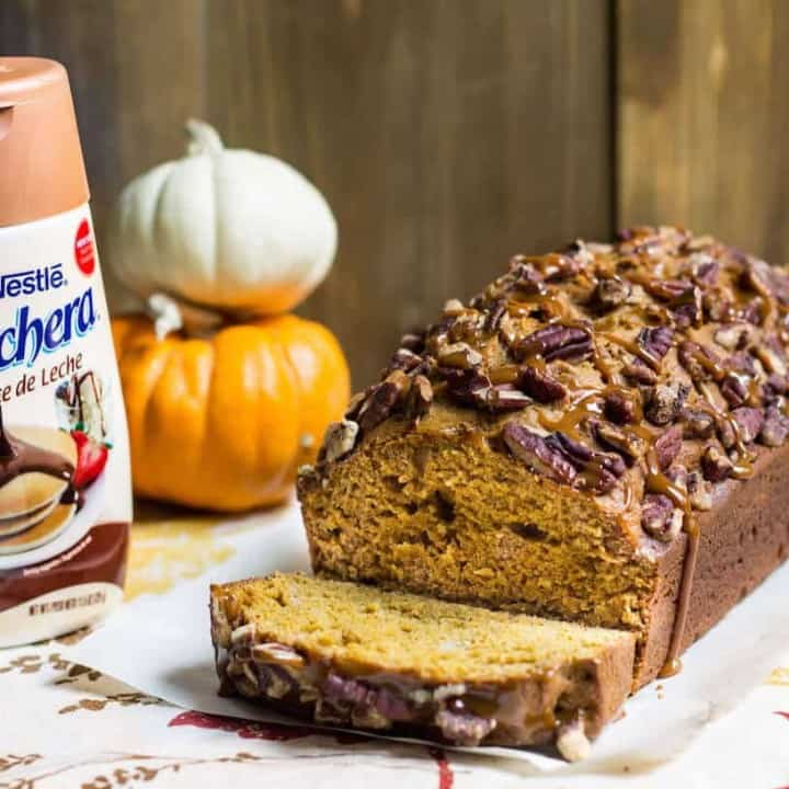 Pumpkin Bread with Dulce de Leche