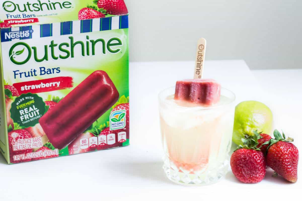 strawberry lime margarita with outshine fruit bars