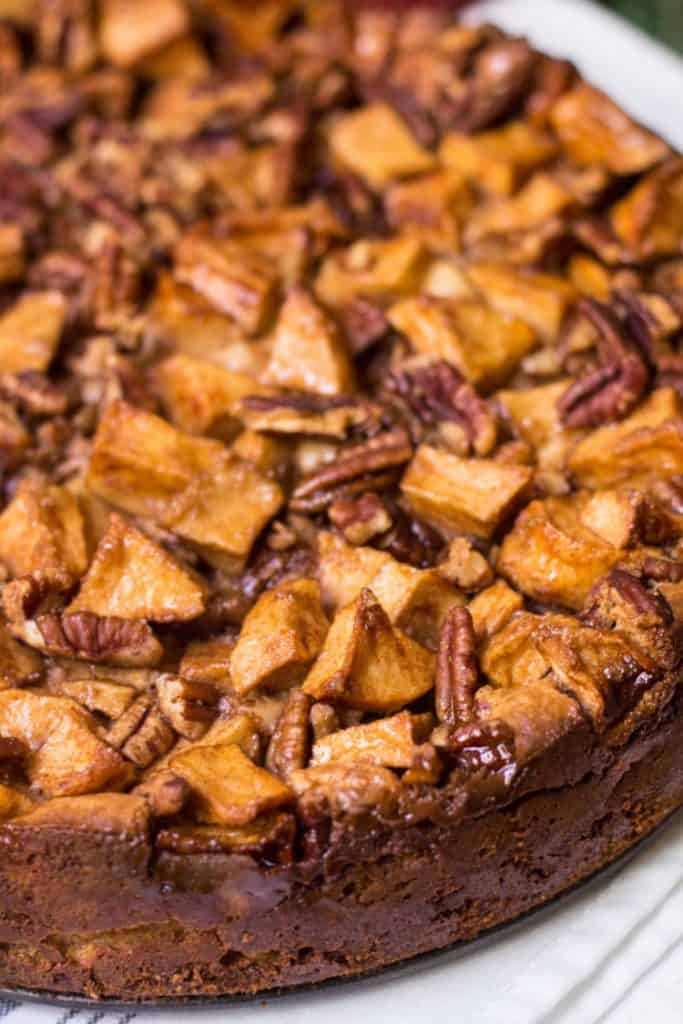 Apple Pecan Cheesecake topping