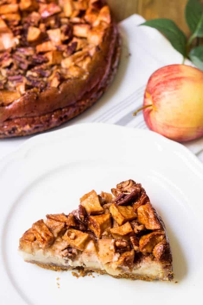 Apple Pecan Cheesecake slice