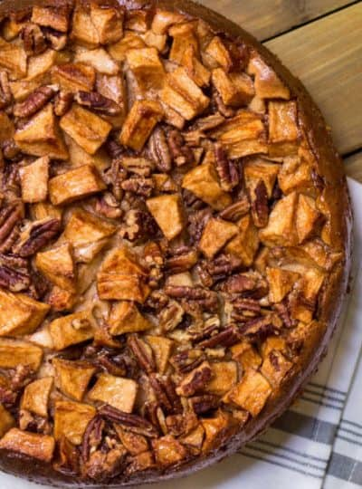 Apple Pecan Cheesecake recipe for the fall holidays