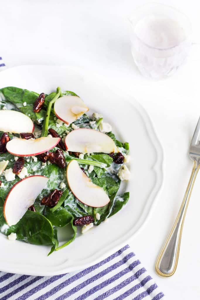 Apple Pecan Salad with Blue Cheese Dressing - Mon Petit Four