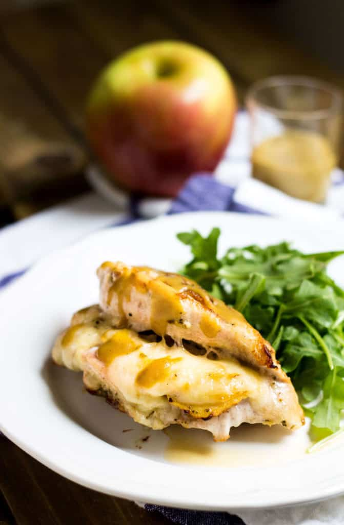Apple-Stuffed Chicken with Maple-Dijon (Poulet Farci)