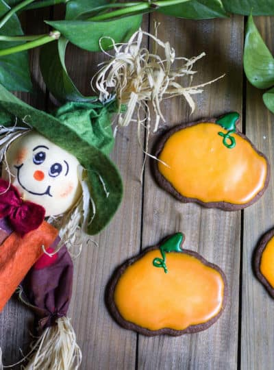 Halloween Cookies Made with Chocolate Cookie Dough