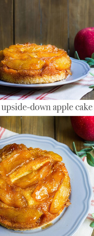 Upside-Down Apple Cake - A delicious French cake with caramelized apples. Recipe via MonPetitFour.com