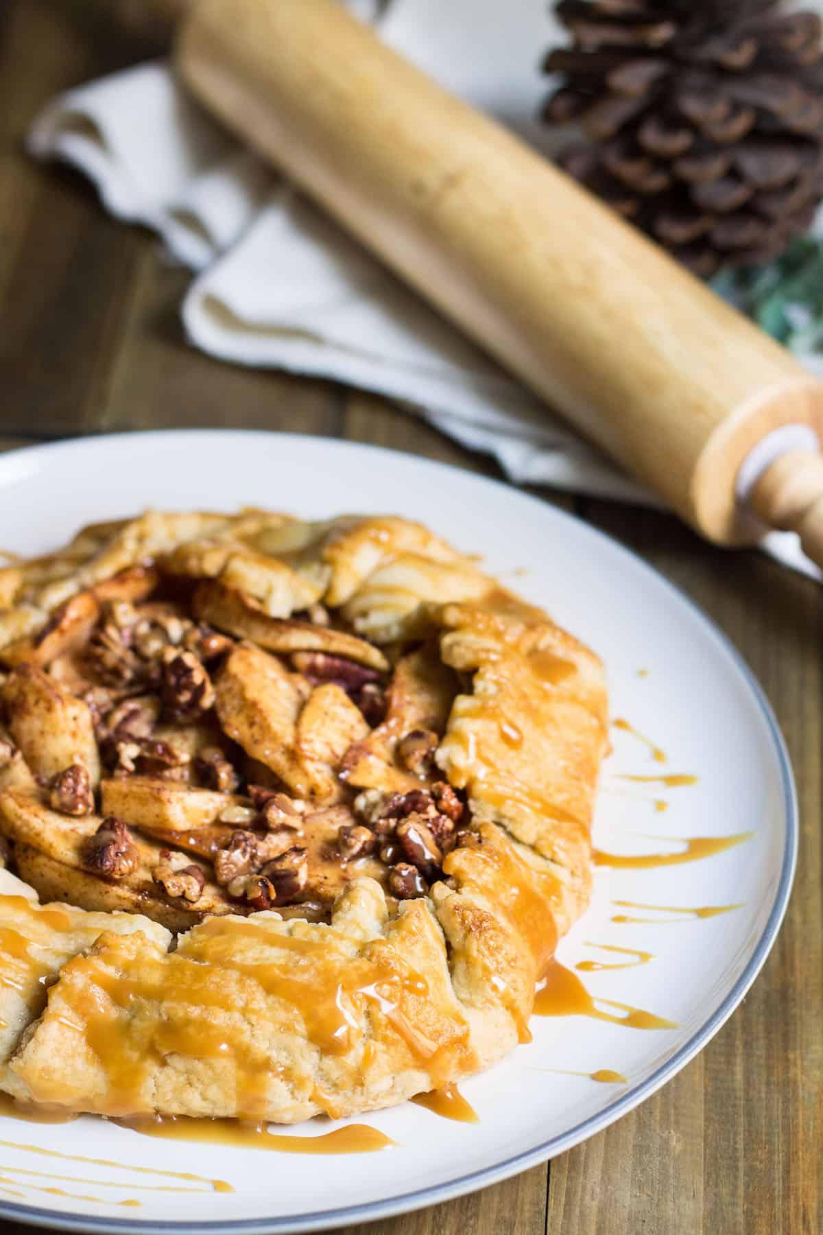 Apple Galette: The Easy Way to Make Pie! Recipe via MonPetitFour.com