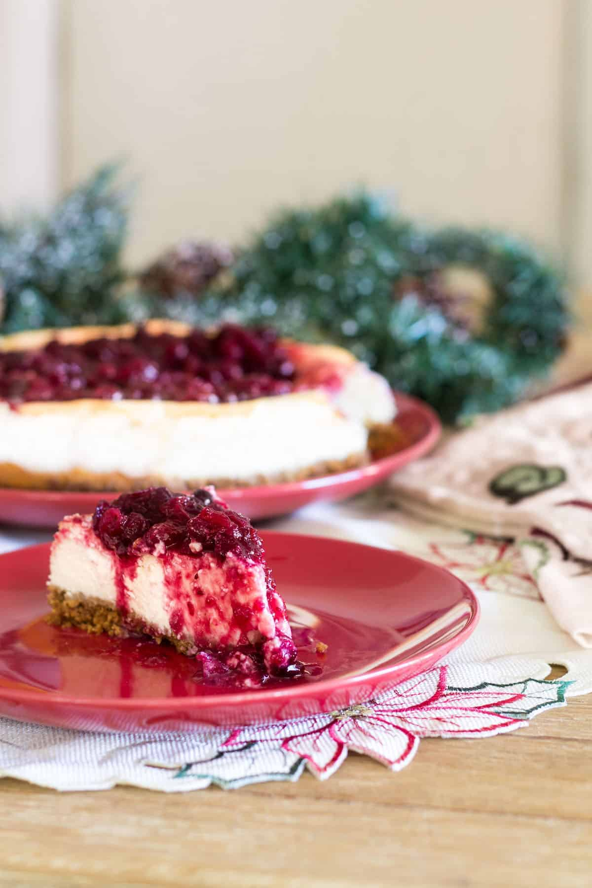 cranberry cheesecake with a deliciously sweet and tart cranberry ...