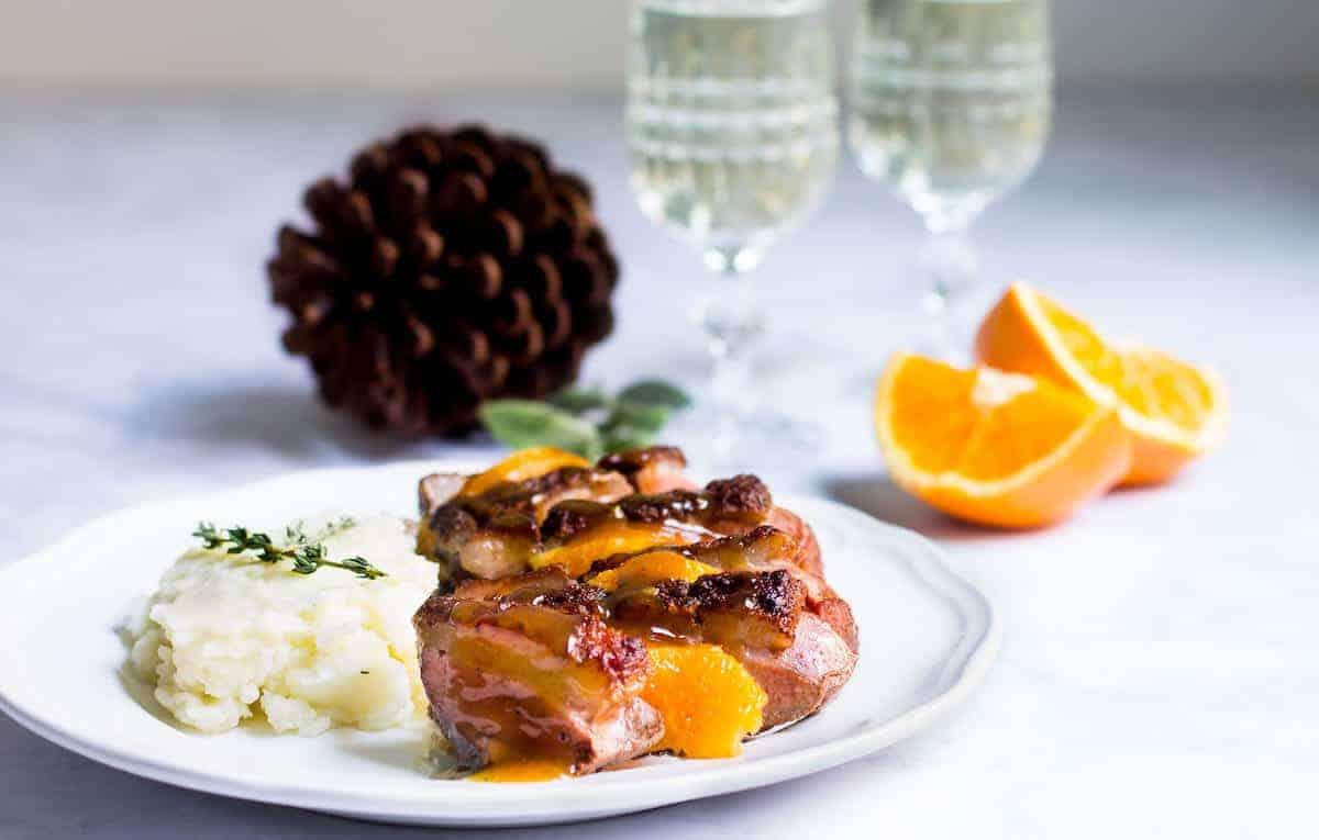 Magret Canard Foie Gras Four duck with orange sauce (magret de canard à l'orange) - mon