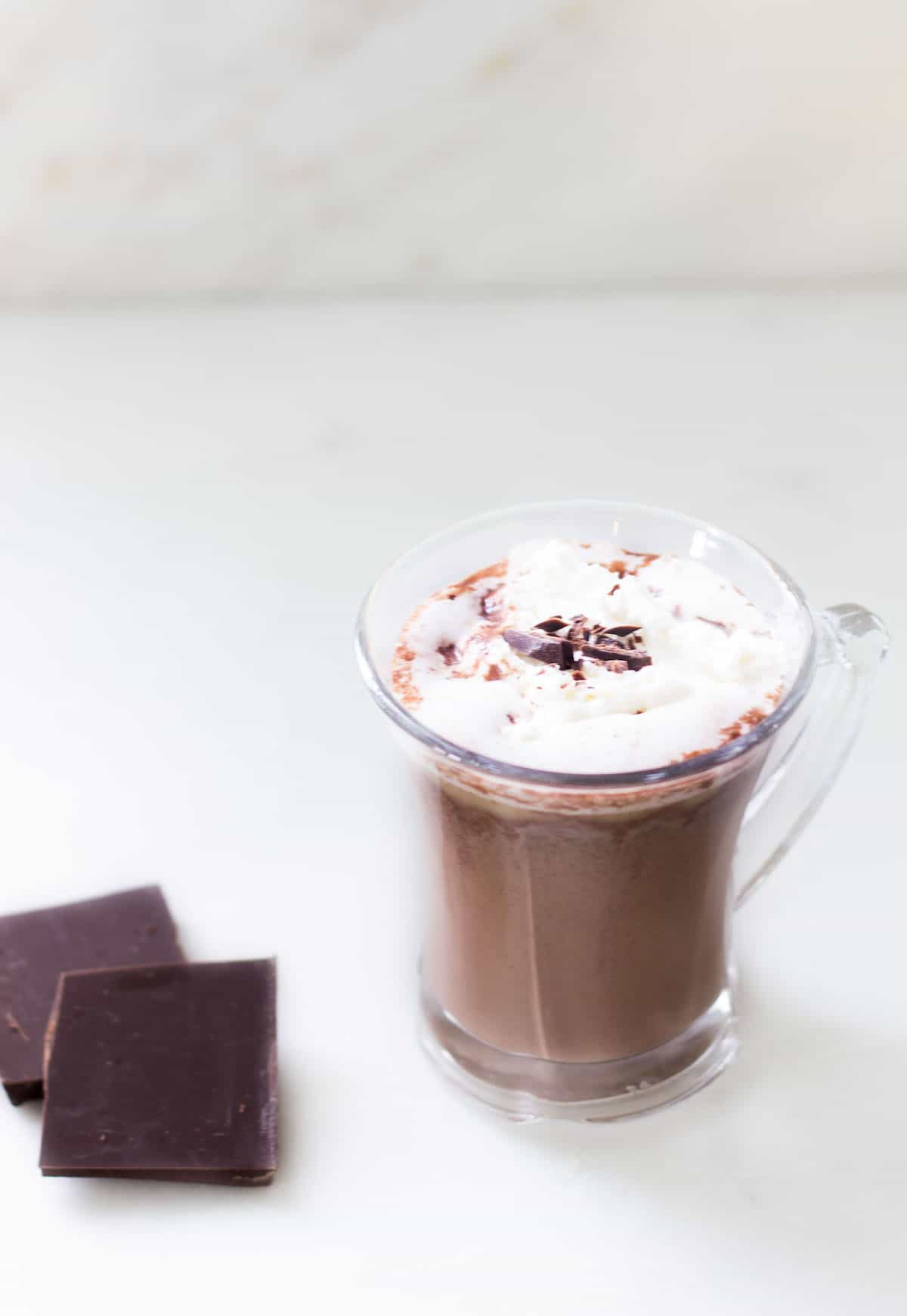 Rich and luxurious hot chocolate done the French way! Recipe via MonPetitFour.com