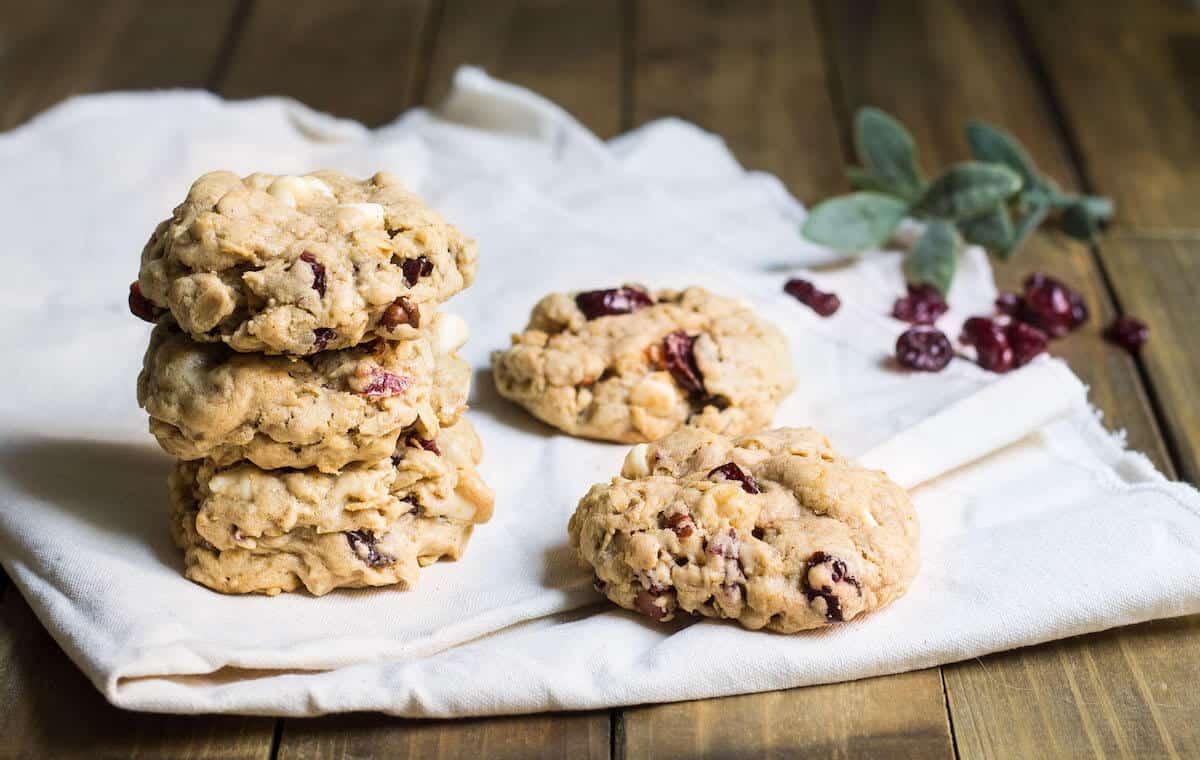 Oatmeal Cranberry White Chocolate Cookies Mon Petit Four