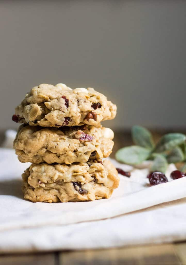 Oatmeal Cranberry White Chocolate Cookies for the Holidays. Recipe via ...